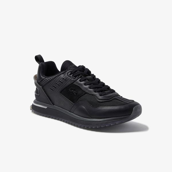 Lacoste Men's Court Break Leather and Textile Sneakers