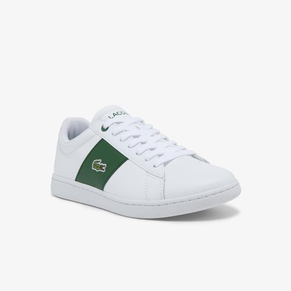 Lacoste Women's Carnaby Evo Leather Contrast Quarter Sneakers